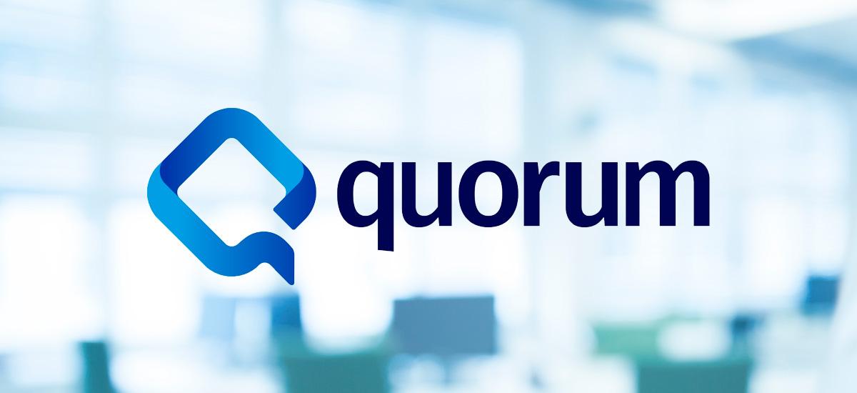 Quorum logo on a light background