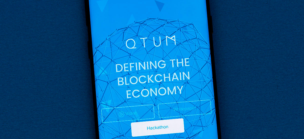 QTUM app opened on a phone