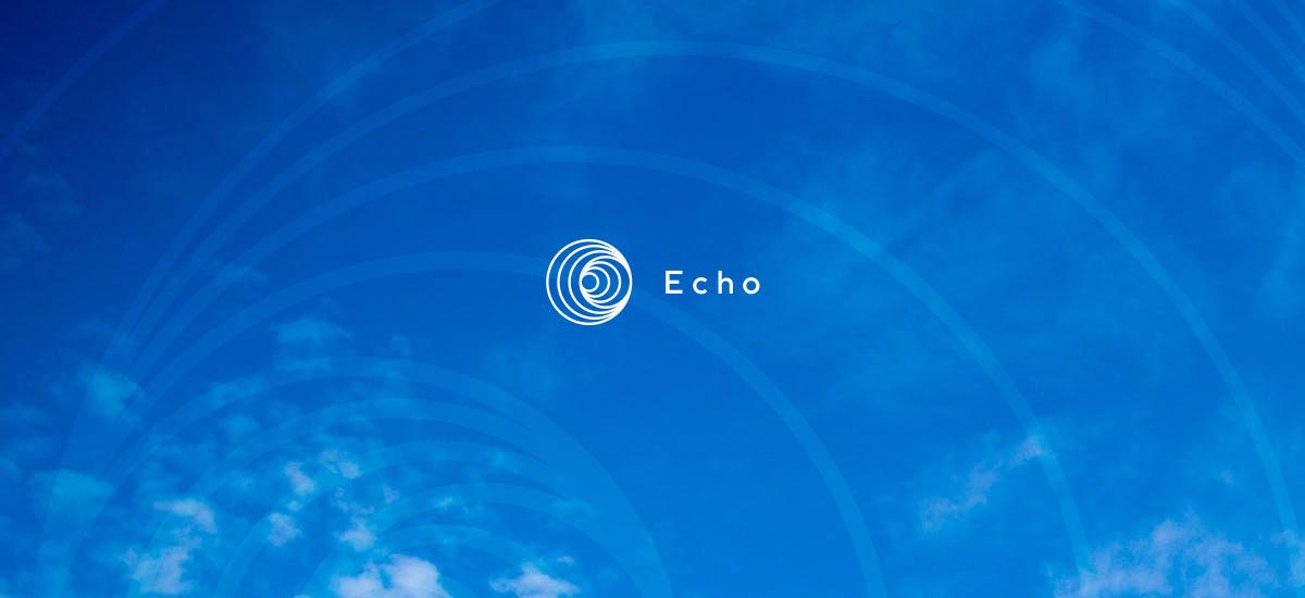 Logo of Echo platform on sky background