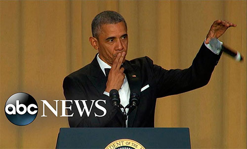 Barack Obama's epic mic drop at the White House correspondents' dinner