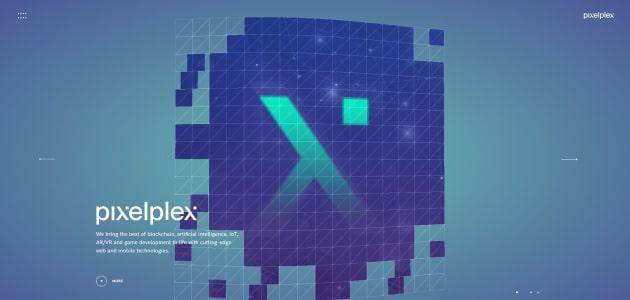 PixelPlex homepage screen