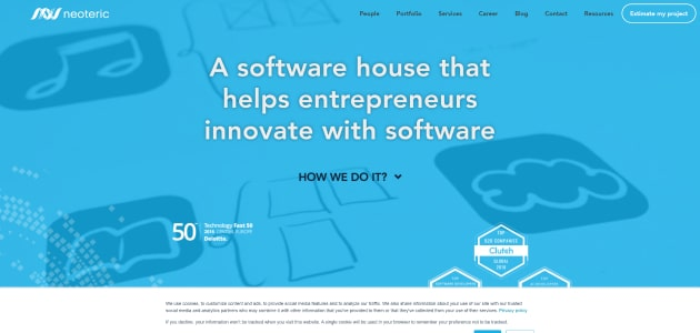 Neoteric homepage screen