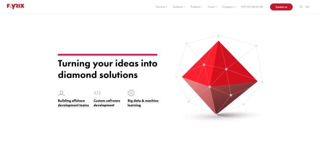 Fayrix homepage screen