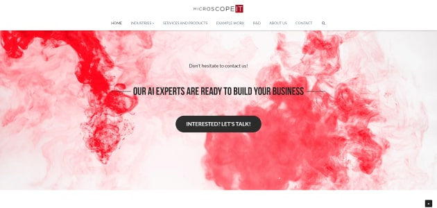 MicroscopeIT homepage screen