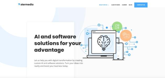 Stermedia homepage screen