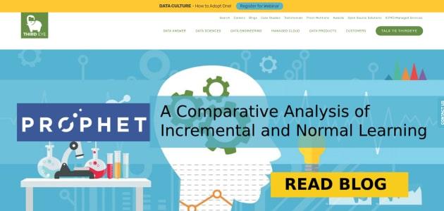 ThirdEye Data homepage screen
