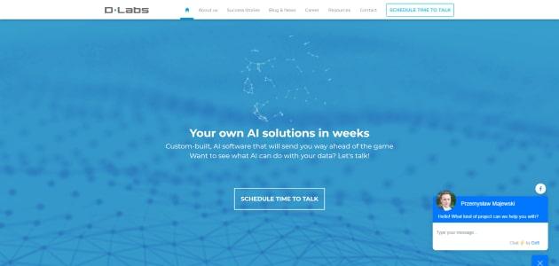 DLabs homepage screen