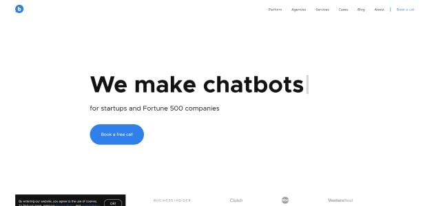 BotsCrew homepage screen