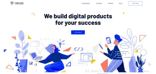 Tooploox homepage screen