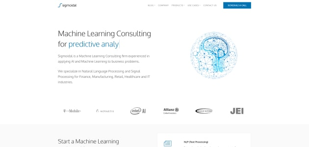 Sigmoidal homepage screen
