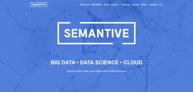 Semantive homepage screen