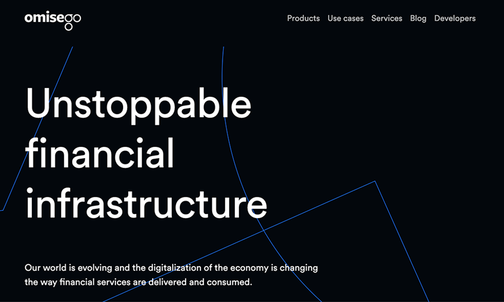 The landing page of OmiseGo website