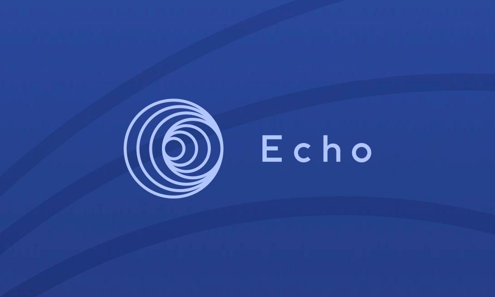Echo logo on a dark blue background