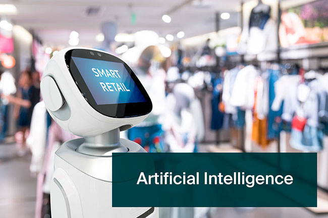 Robotic AI shop assistant