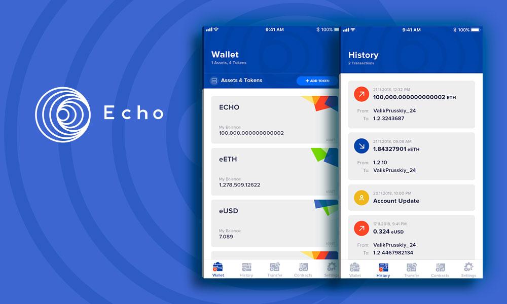 Echo mobile app UI