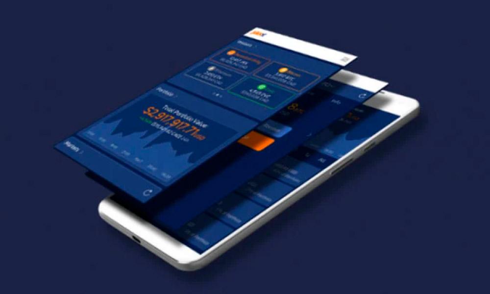 A phone with Jaxx Liberty app running