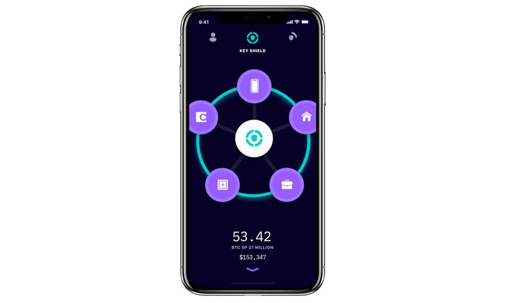 A phone on iOS platform with Keymaster app running